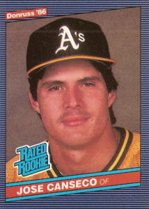 Jose Canesco 1986 Donruss Rookie card