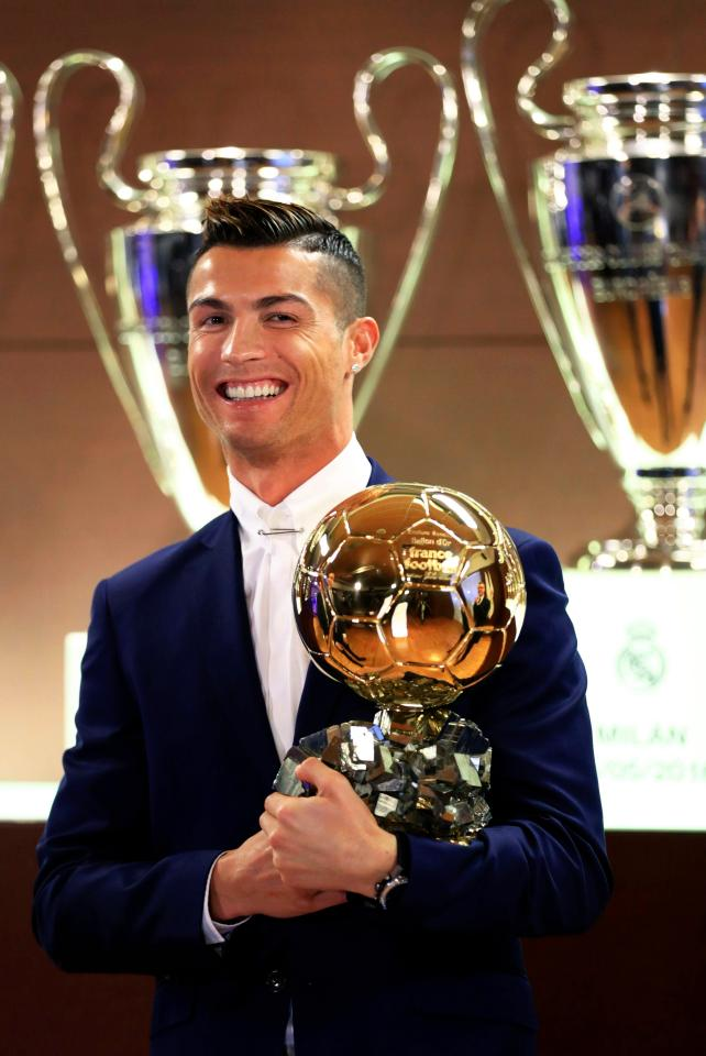 Cristiano Ronaldo Four Ballon d'Or's